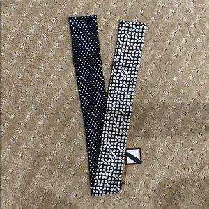 Coach signature ponytail tie